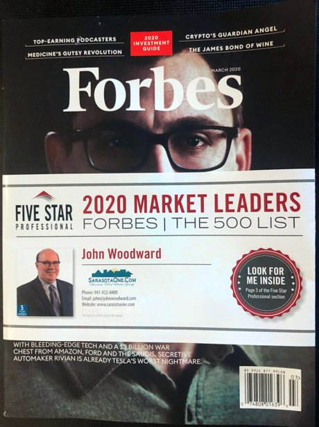 John Woodward recognized by Forbes to the National 500 Market Leaders List