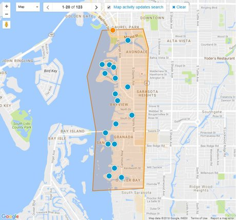 West of Trail Sarasota Map Search
