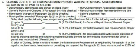 Standard Repair Limits of the Standard Contract