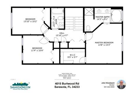 4015 Burlwood Rd. Sarasota FL 34233 Second Floor Plan