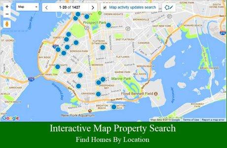 Interactive Brooklyn Brooklyn NY property map search.