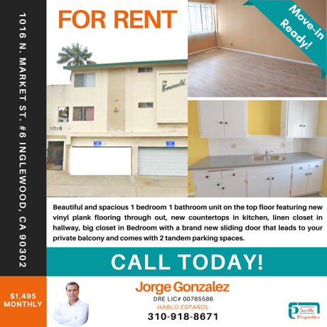 For Rent - Call now