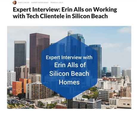 Expert Interview Erin Alls - Silicon Beach Homes - Property Shark