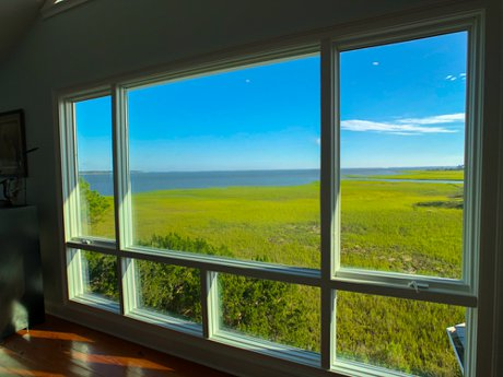 views of the Harbor River and St Helena Sound from the master bedroom