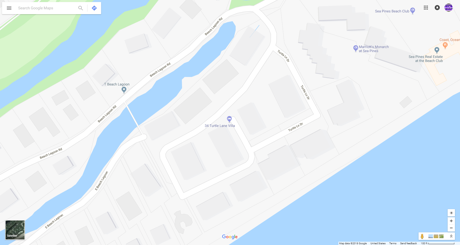 Map of Turtle Lane Sea Pines