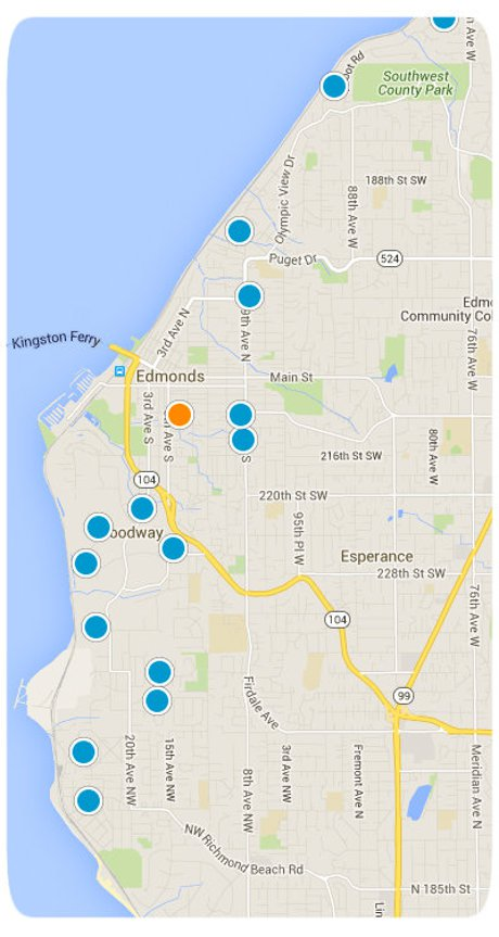 Edmonds Interactive Map Search