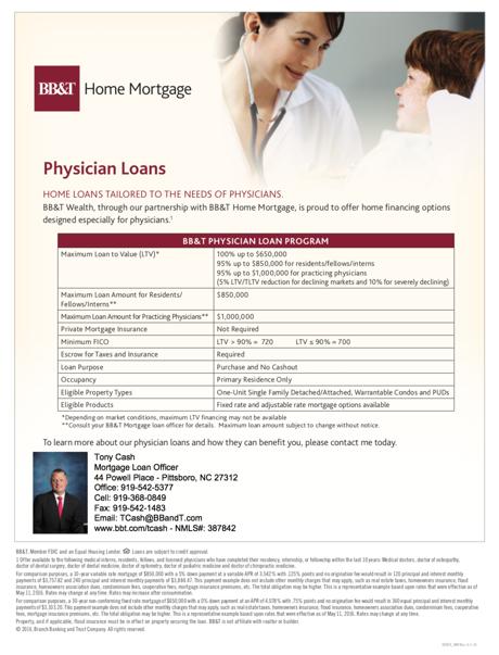 doctor home loan program chapel hill