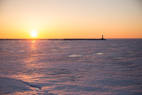 petoskey ice little traverse bay 2018 photo