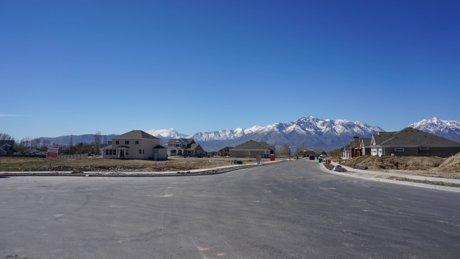 Riverton Utah subdivision of homes to a built