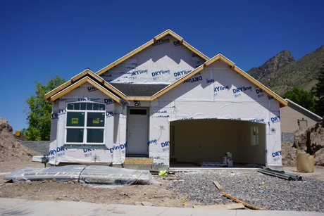 Bayview Heights home under construction in Provo