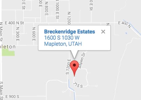 Breckenridge Estates Mapleton Utah map