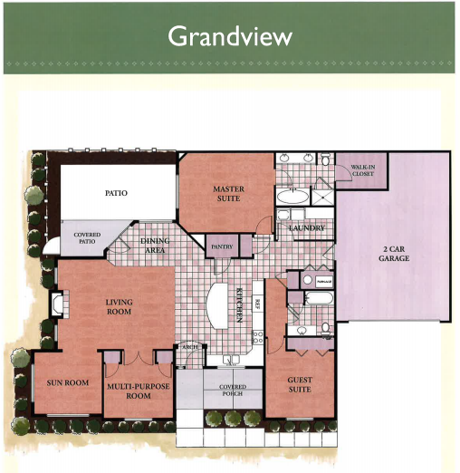 Grandview floor plan at The Villas at Waters Edge
