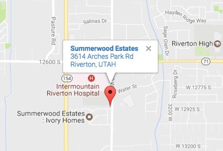 Va Hospital Utah Map.Summerwood Estates Ivory Homes For Sale In Riverton Utah