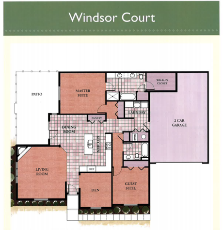 Windsor Court floor plan at the Villas at Waters Edge