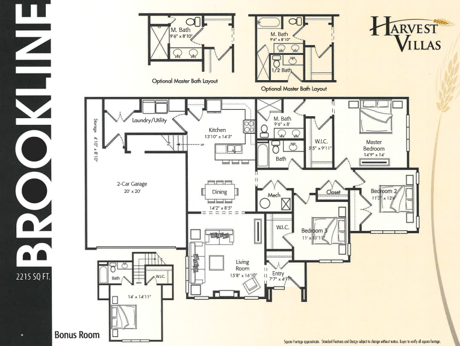 Harvest Villas Brookline floor plan