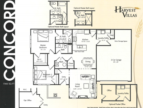 Harvest Villas Concord floor plan