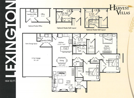 Harvest Villas Lexington Floor Plan