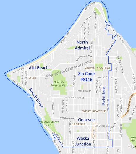 Homes For Sale In Just West Seattle Home Search - Seattle map zip codes