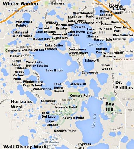 Windermere Neighborhood Map