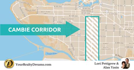 Vancouver Cambie Corridor Map Location