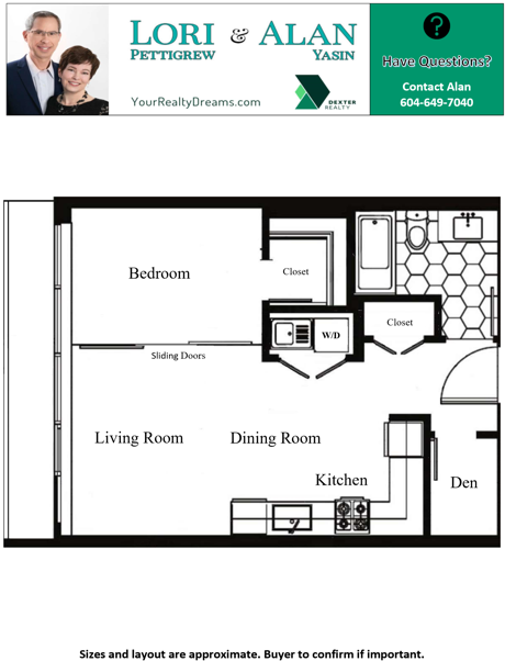 Floor Plan for 114-311 E 6th Ave Vancouver, BC V5T1J9 at The Wohlsein