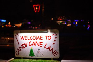 Pacific Groves Candy Cane Lane Neighborhood