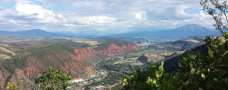 View of the Roaring Fork Valley showing Glenwood Springs, Carbondale and New Castle Real Estate