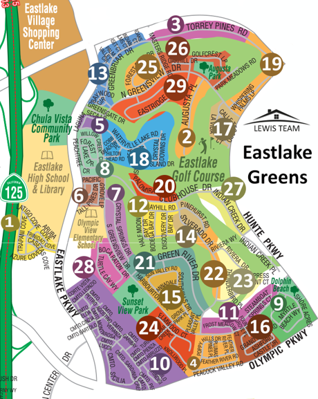 Eastlake Greens Map