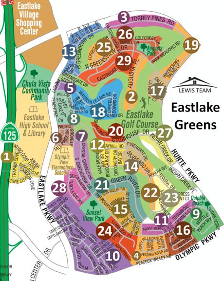 Eastlake Greens Map