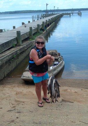 Portobago Bay Cat Fish on stringer