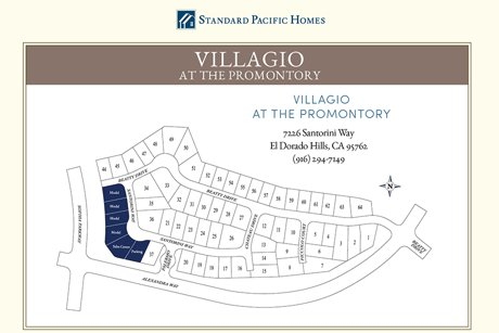 Site Plan of The Villagio, Promontory