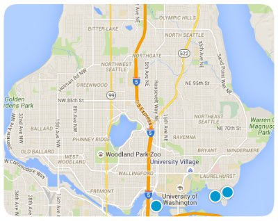 North Seattle Interactive Map Search