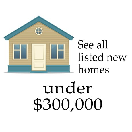 Find new construction homes in Denton County under $300,000