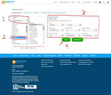 Advanced Search Entry Screen