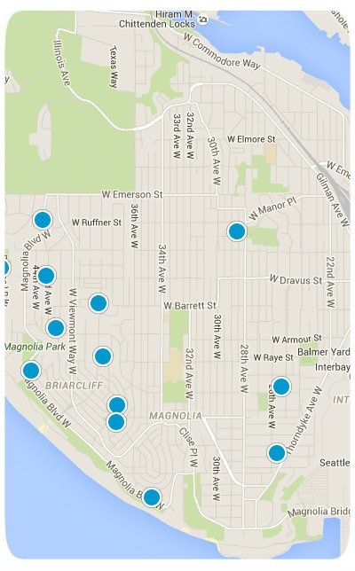 Magnolia Interactive Map Search