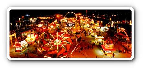 Fredericksburg Agricultural Fair at Night