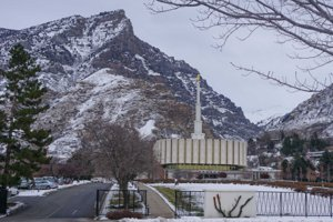 Provo Utah Temple near Rock Canyon