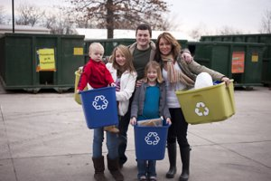 Sunnyvale Homeowners recycling their waste