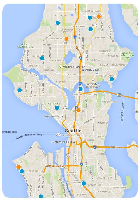 Seattle Interactive Map Search