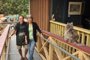 The Donkey Mill Art Center exemplifies the world-class artist community that resides in Holualoa.