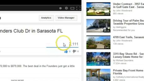 Over 2000 views of a YouTube video helps to sell your Sarasota Home