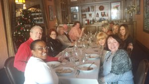 Staff and agents of Roger Martin Properties enjoy holiday luncheon