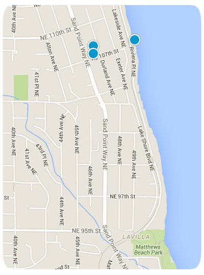 Matthews Beach Interactive Map Search