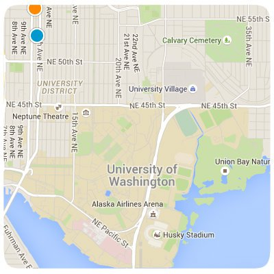 University District Interactive Map Search