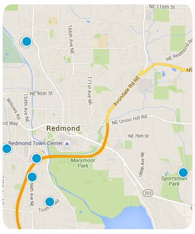 Redmond Interactive Map Search