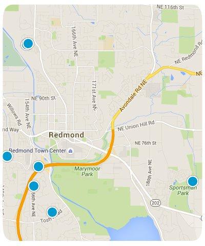 Redmond Interactive Map Search