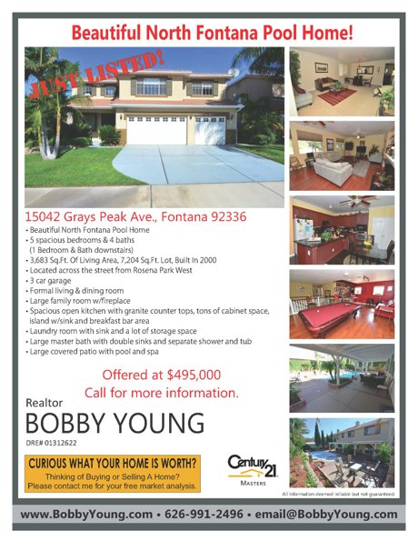 15042 Grays Peak Ave Fontana For Sale