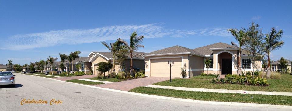 New Home Construction at Celebration Cape in Cape Coral Florida