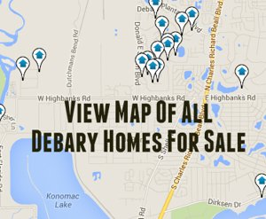 Map of Debary Homes For Sale