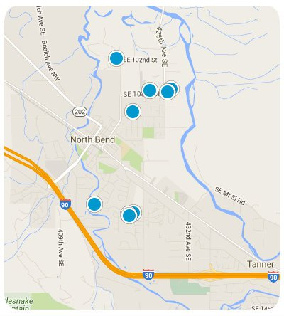North Bend Interactive Map Search